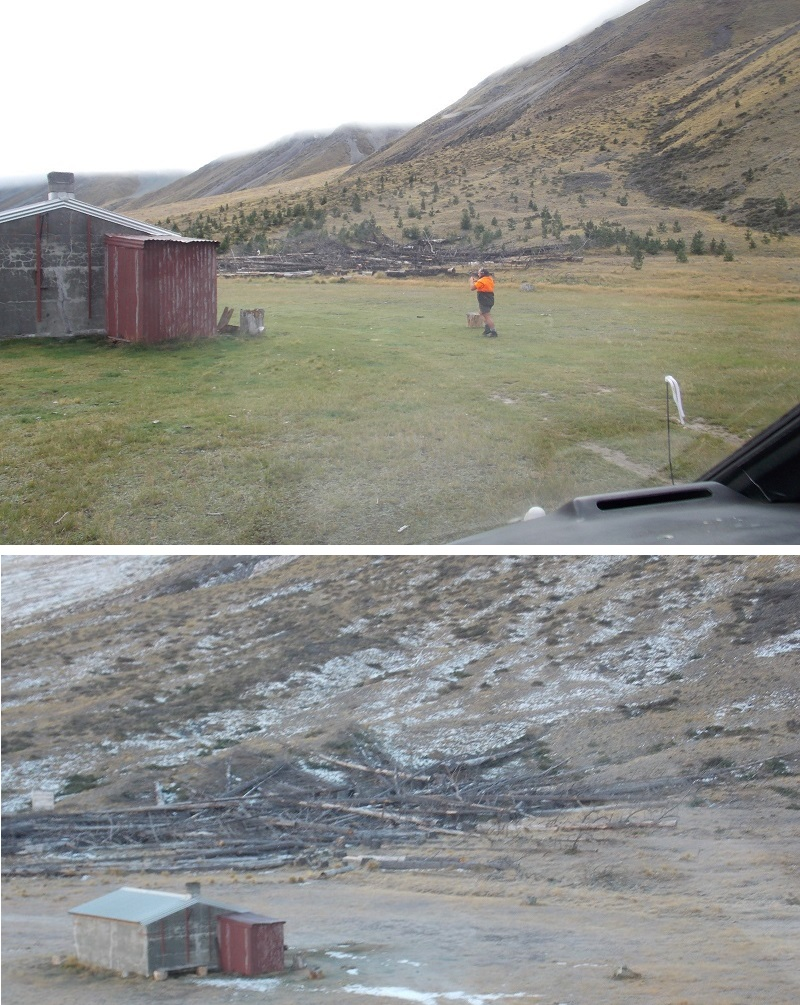 Tekapo West Forks Before and After